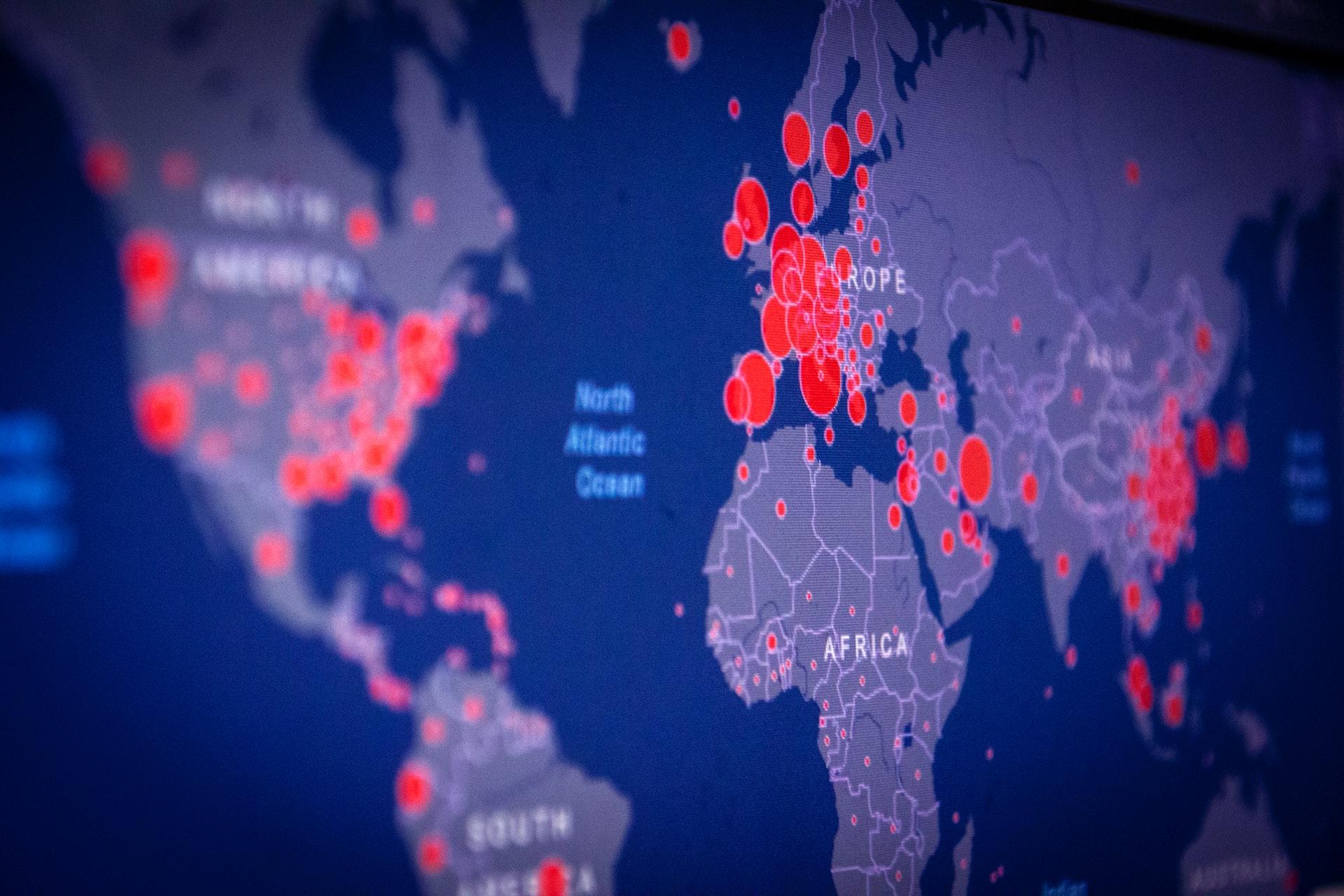 foto sulla data visualization con un grafico a mappa