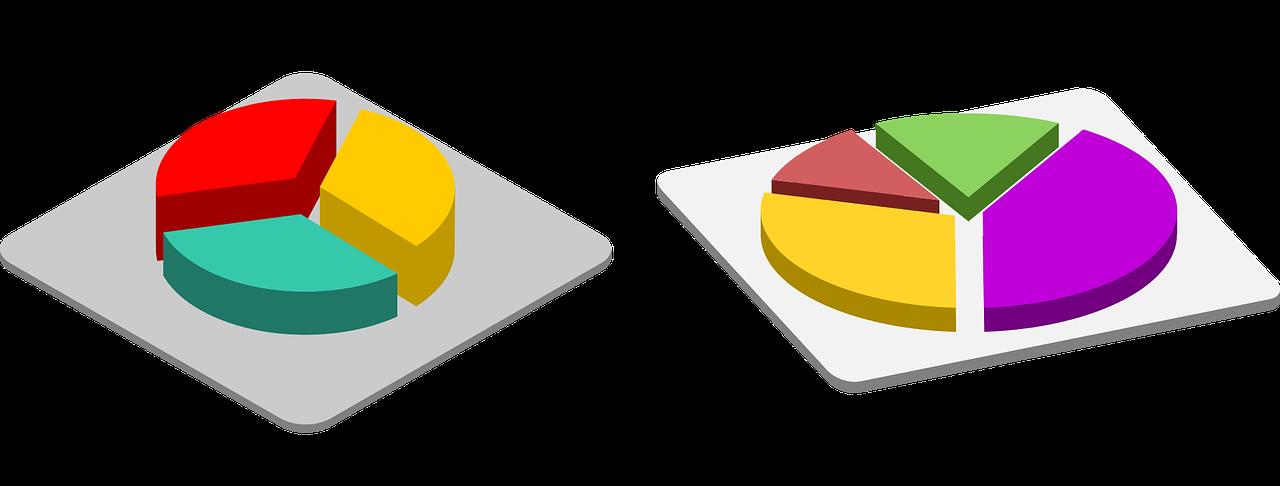 illustrazione sulla data visualization con un grafico in 3d