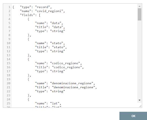 CSVRecordSetWriter JSON schema