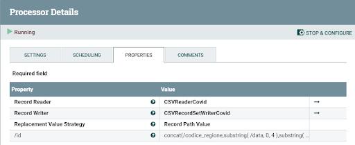 Apache NiFi processor details UpdateRecord