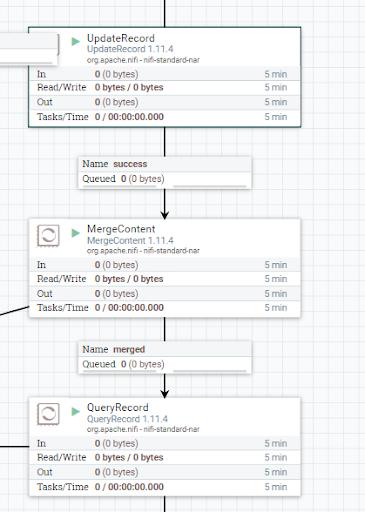 Apache NiFi UpdateRecord MergeContent QueryRecord